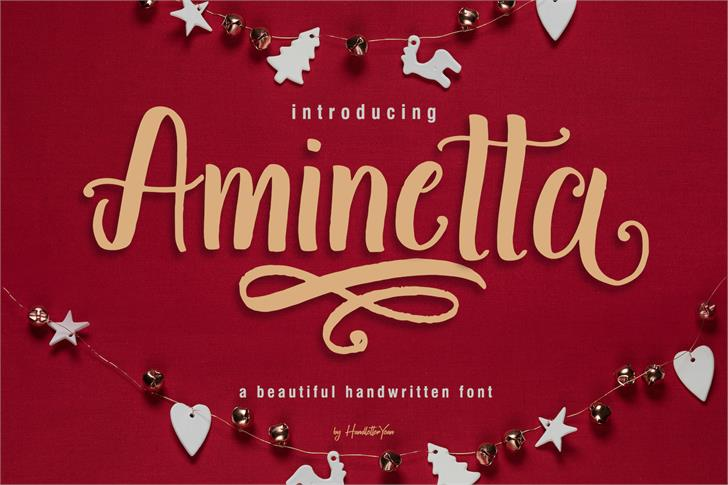 Aminetta Font poster