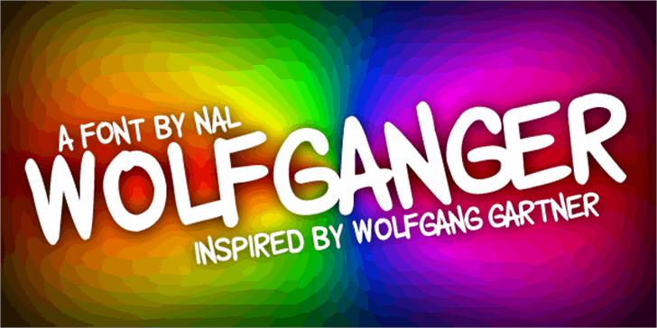 Wolfganger Font screenshot graphics