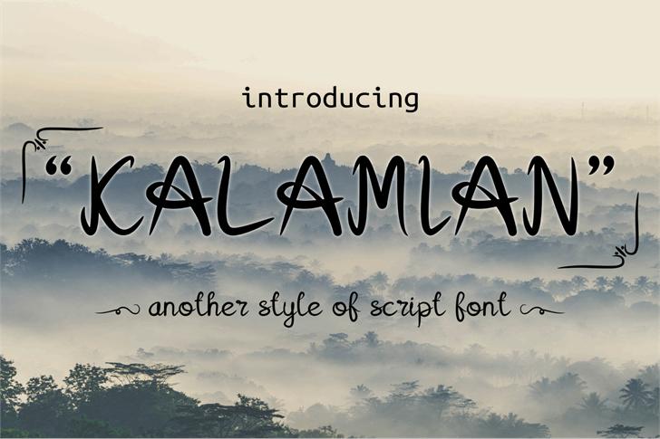 Kalamian font by onne hermaone