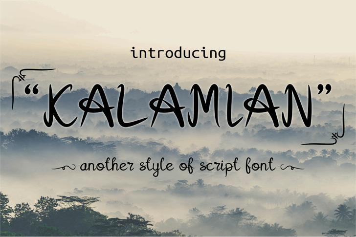 Kalamian Font handwriting text