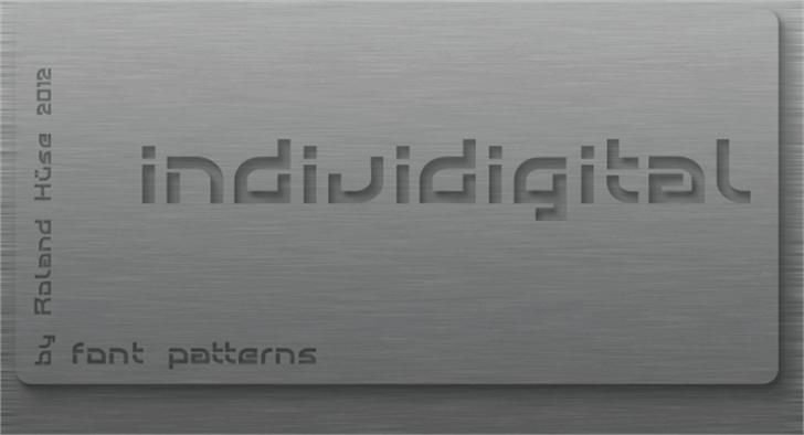 Individigital Font design screenshot