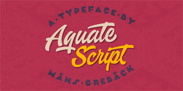 Aquate Script PERSONAL USE ONLY Font poster