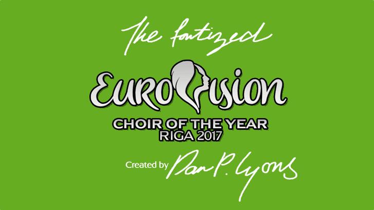 Eurovision Choir 2017 Font design text