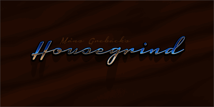 Housegrind Personal Use Only Font screenshot design