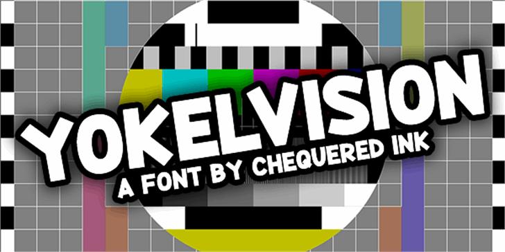 Yokelvision Font screenshot poster
