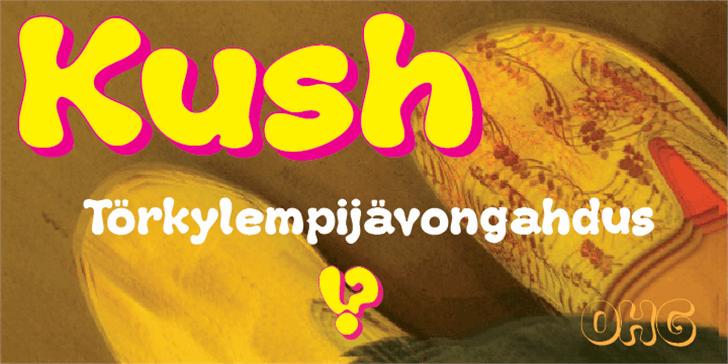 Kush Font cartoon design