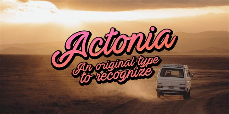 Actonia PERSONAL USE Font land vehicle vehicle