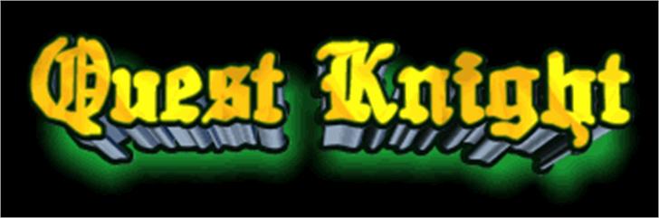 Quest Knight Font screenshot cartoon