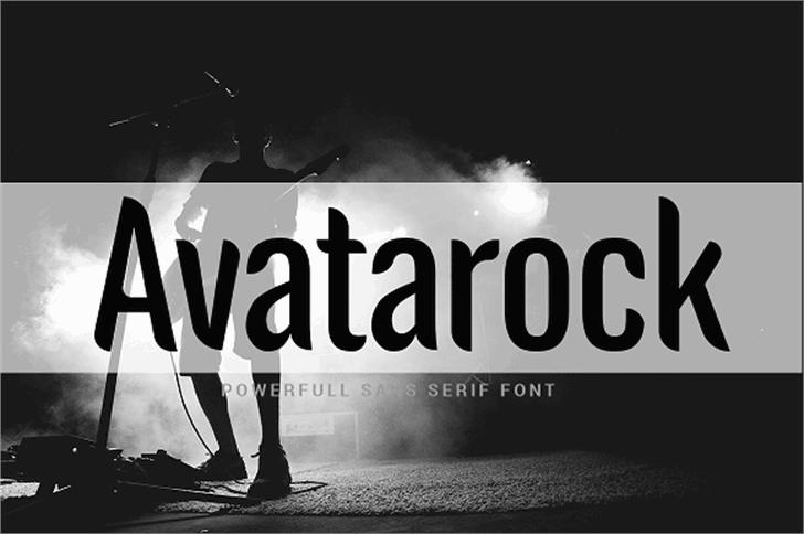 Avatarock Font poster screenshot