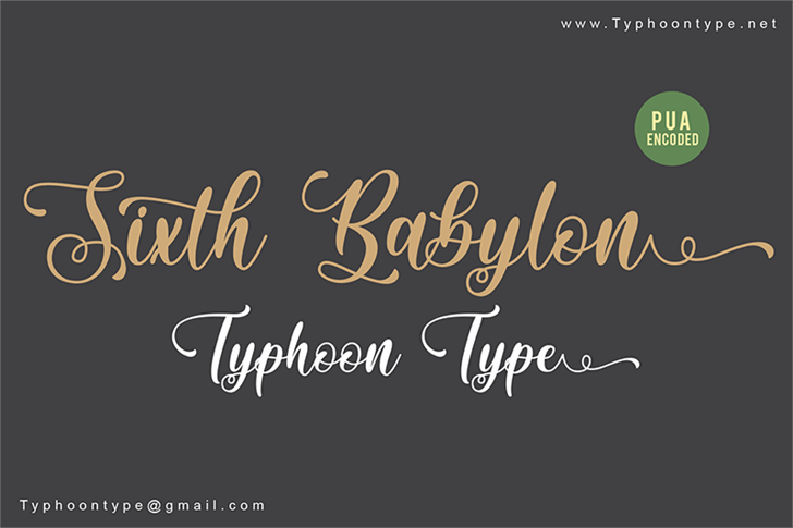 Sixth Babylon - Personal Use Font handwriting text
