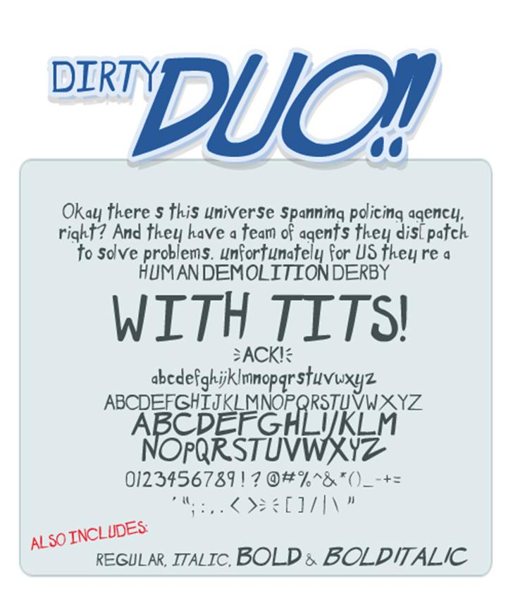 Dirty Duo font by Press Gang Studios
