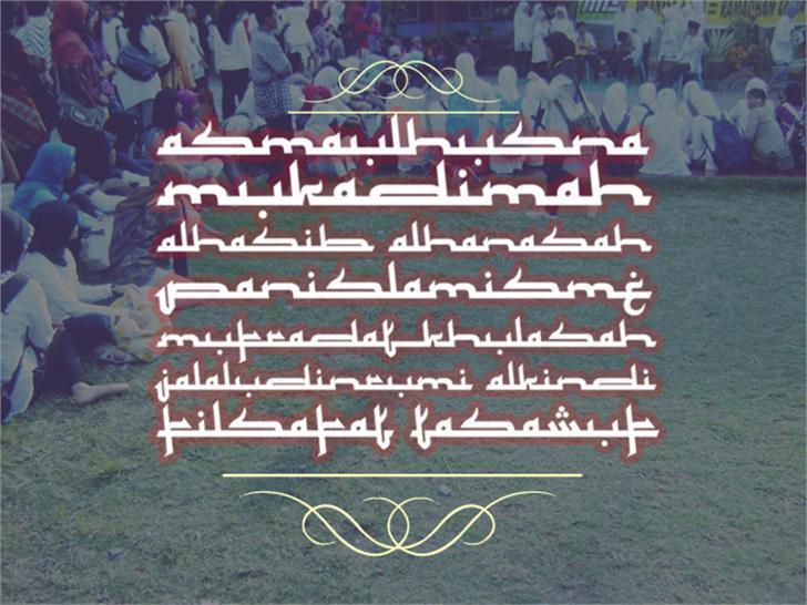 Mukadimah Font grass handwriting