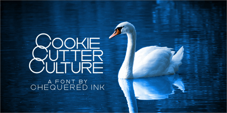 Cookie Cutter Culture Font water outdoor