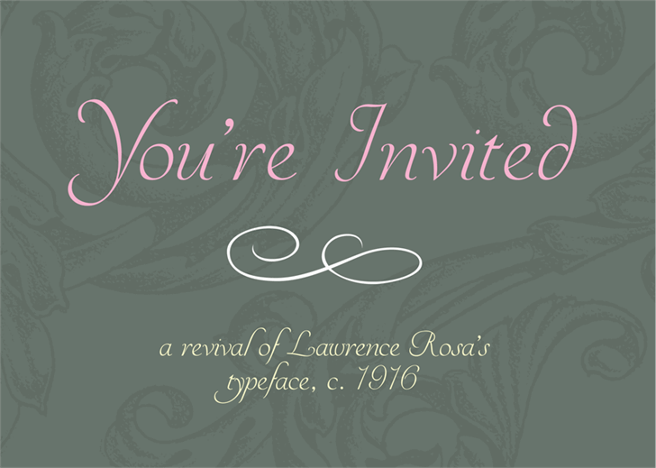YoureInvited font by Mario Arturo