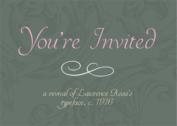 YoureInvited Font design typography