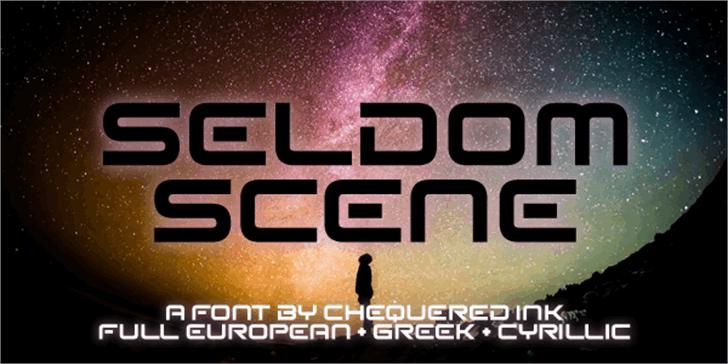 Seldom Scene Font screenshot poster