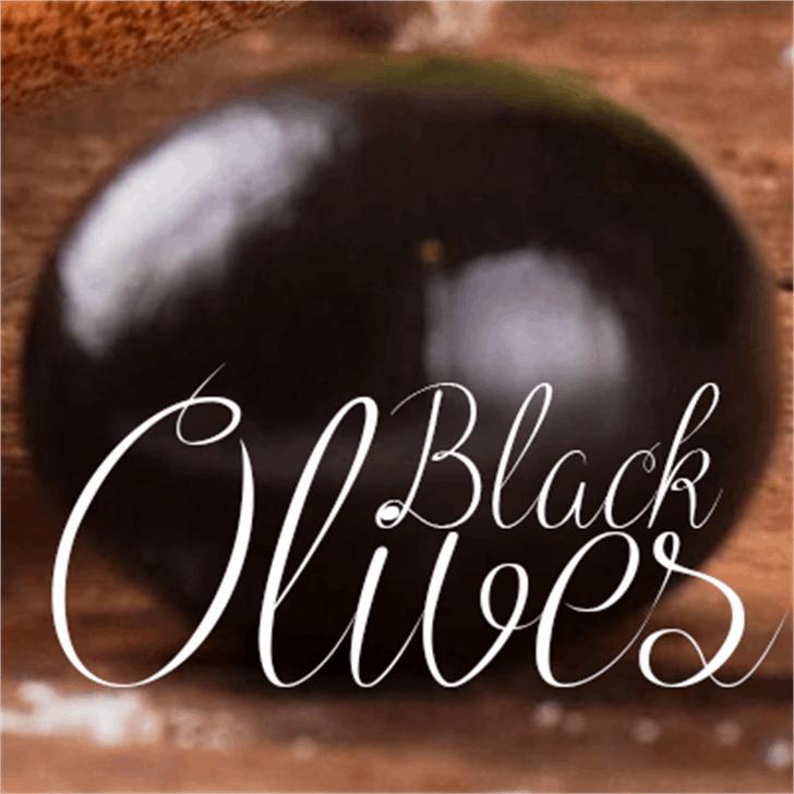 Black Olives Font handwriting indoor