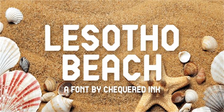 Lesotho Beach Font ocean seashells