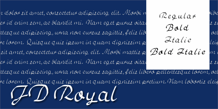 JD Royal Font text handwriting