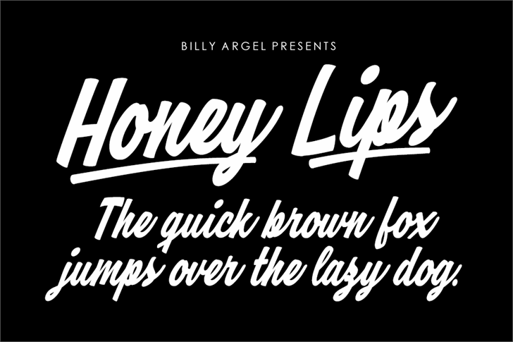 Honey Lips Personal Use Font design text