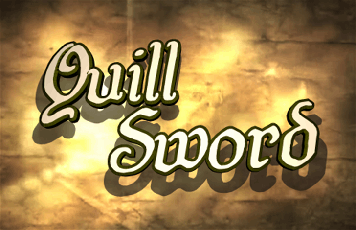 Quill Sword Font poster text