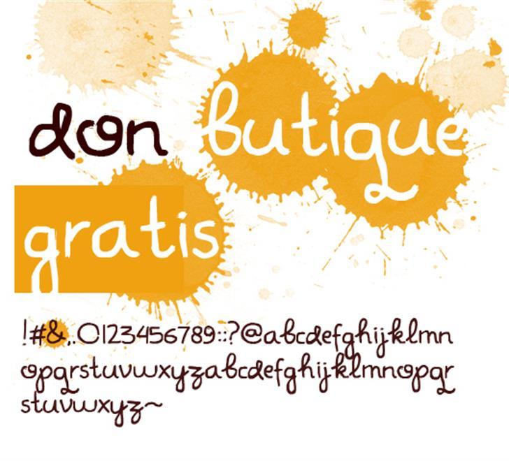 Don Butique Font design typography