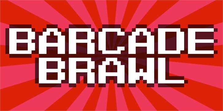 Barcade Brawl Font screenshot poster