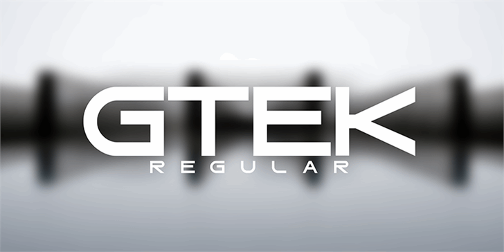Gtek Regular Font design screenshot