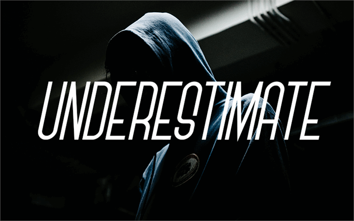 Underestimate Font screenshot design