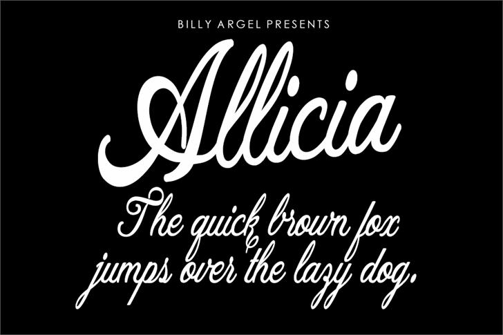 Allicia Personal Use Font design text