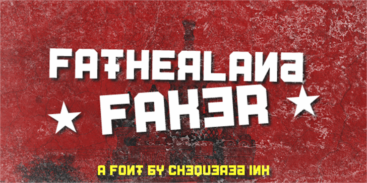 Fatherland Faker font by Chequered Ink