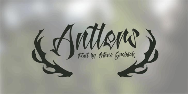 Antlers Demo Font handwriting design