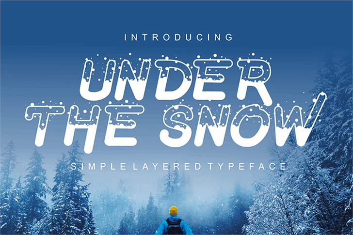 Under The Snow Font design text