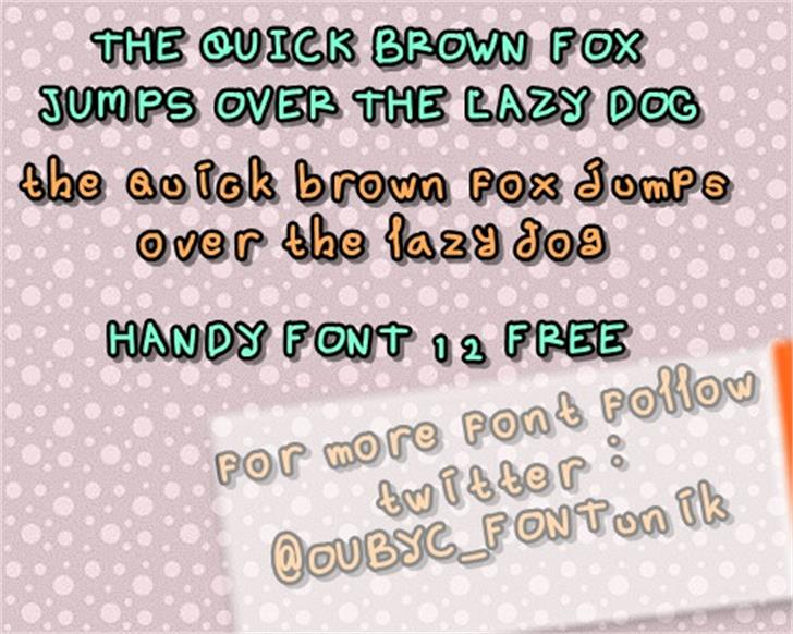 handy font 12 by OUBYC Font screenshot graphic