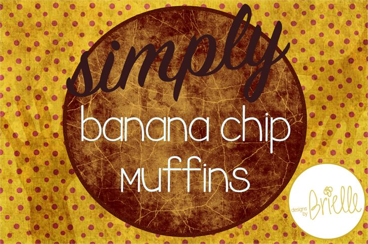 Banana Chip Muffins font by Designs by Brielle