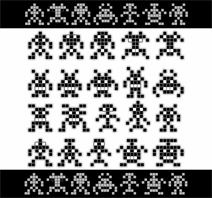 Binary Soldiers font by 404maciej