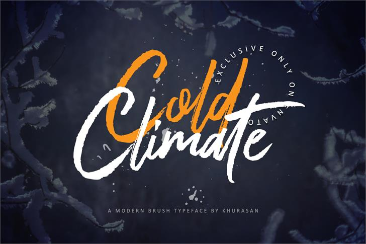 Cold Climate Font poster