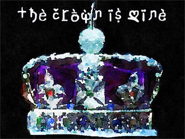 Thecrownismine Final Font text book