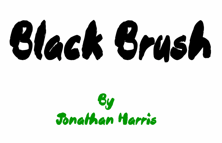 Black Brush Font cartoon design