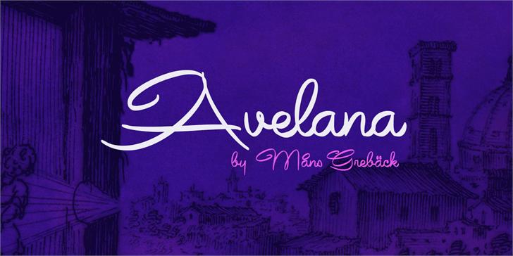 Avelana Bold PERSONAL USE font by Måns Grebäck