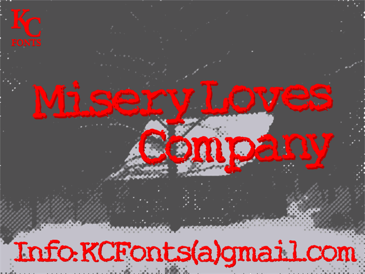 Misery Loves Company Font screenshot design