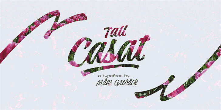 Tall Casat Bold PERSONAL USE Font design graphic