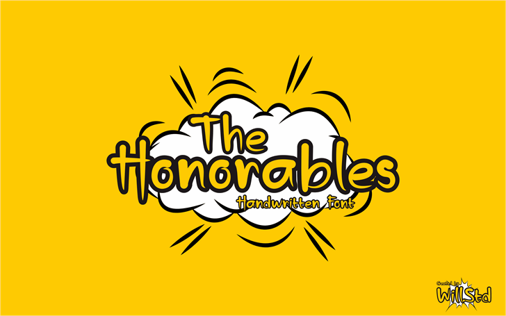 The Honorables Font poster