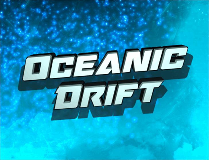 Oceanic Drift Font screenshot text