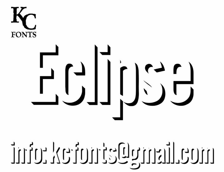 Eclipse font by KC Fonts
