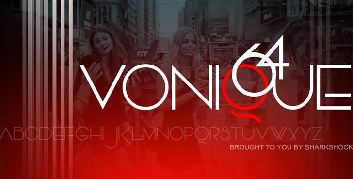 Vonique 64 Font screenshot poster