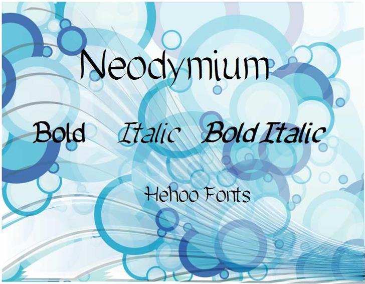Neodymium Font screenshot design