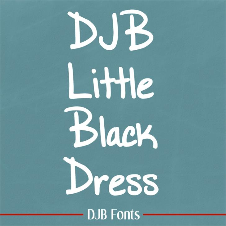 DJB Little Black Dress Font blackboard handwriting