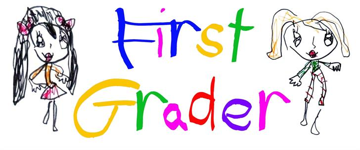 (First Grader) Font child art drawing