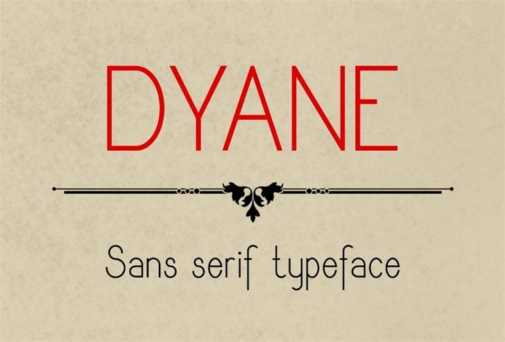 Dyane Font screenshot design